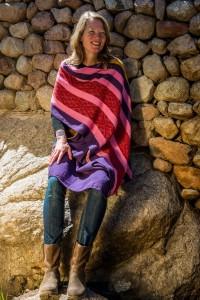 Lisette met sjaal voor Hilda