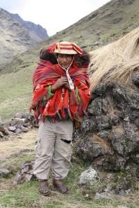 dragen van de geknipte wol 1
