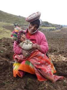 jonge moeder met zoon